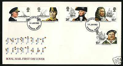 Great Britain 1982  Scott # 991-995   FDC