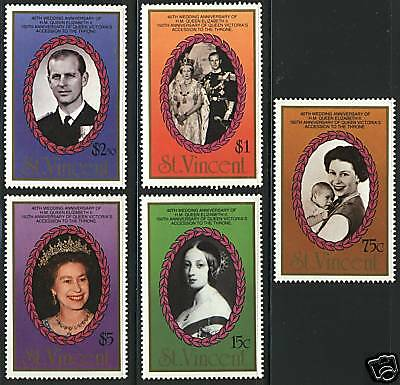 St Vincent   1987  Scott #1017-1021  MNH Set