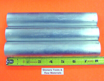 "3 Pieces 2"" ALUMINUM 6061 ROUND ROD 8"" long SOLID BAR New Lathe Stock 2.0"" od"