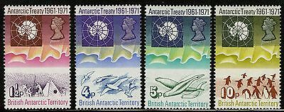 British Antarctic Territory   1971   Scott # 39-42   MLH Set