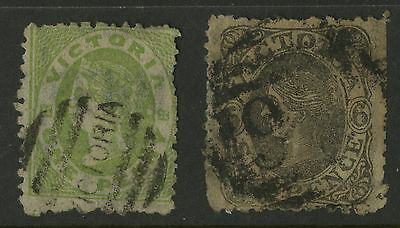 Victoria   1861-63   Scott #  67-68     USED Set