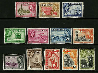 Gold Coast  1952-54  Scott # 148-159  MLH Set