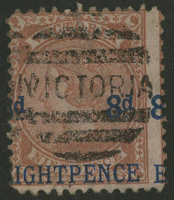 Victoria   1876   Scott #  129     USED - Shifted Surcharge