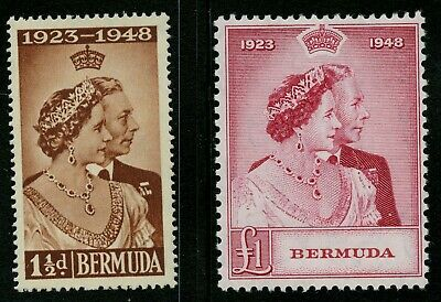 Bermuda  1948   Scott #133-134    Mint Lightly Hinged Set