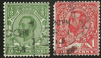 Great Britain  1912   Scott # 155-156     USED