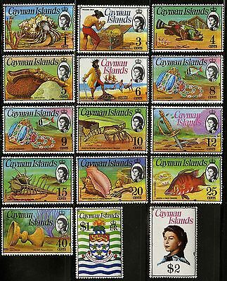 Cayman Islands   1974-75   Scott # 331-345   Mint Never Hinged Set