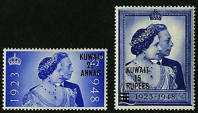 Kuwait   1948   Scott #82-83    Mint Lightly Hinged Set