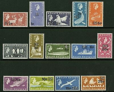South Georgia   1971-72   Scott #17-30    Mint Never Hinged Set