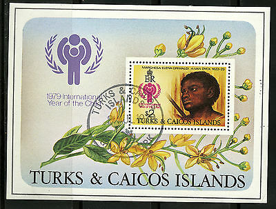 Turks & Caicos   1979   Scott #390    CTO Never Hinged Souvenier Sheet