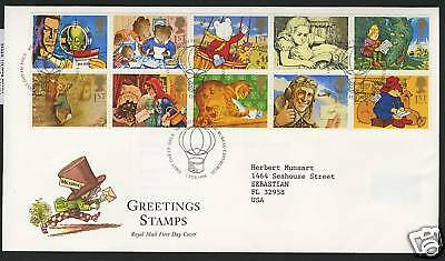 Great Britain  1994  Scott # 1538-1547  First Day Cover