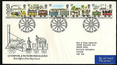 Great Britain 19809  Scott #904-908  Combo FDC