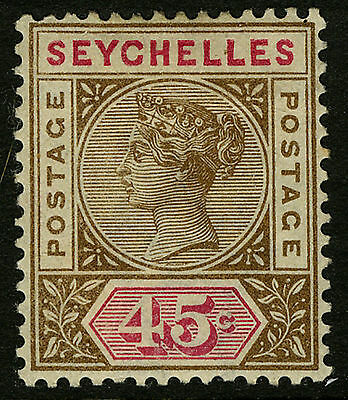 Seychelles  1890-1900   Scott # 15   Mint Hinged