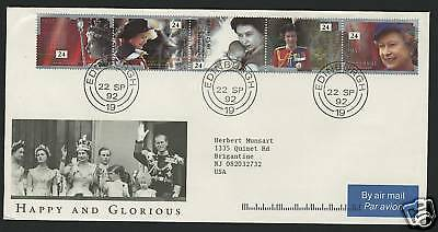 Great Britain  1992  Scott # 1436-1440  First Day Cover