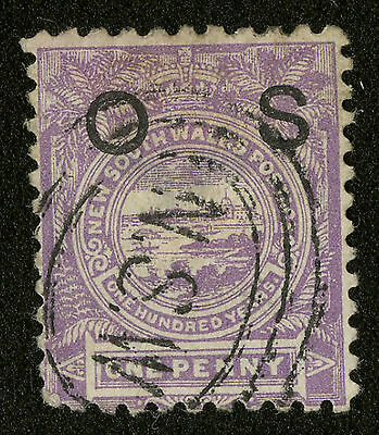 New South Wales  1888-89  Scott # O 24  USED