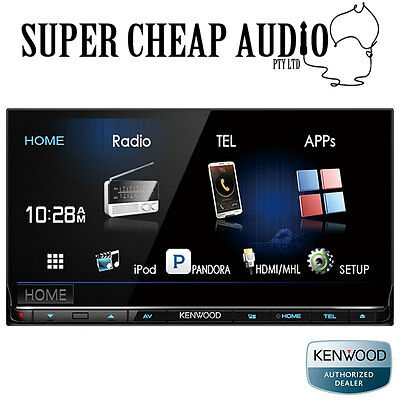 "Kenwood Ddx7016Bt 7"" Dvd Screen Bluetooth Air Mirroring App Mode Android Iphon"