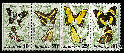Jamaica 1975  Scott # 398-401  MNH Strip
