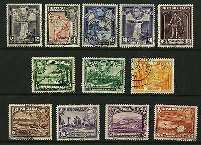 British Guiana  1938-52  Scott # 230-241  USED  Set