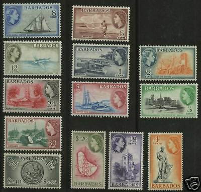 Barbados 1953-57  Scott # 235-247 MNH - MLH Set