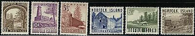 Norfolk Island  1953  Scott # 13-18 MLH Set