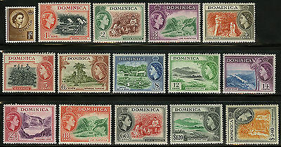 Dominica  1954   Scott # 142-156  MLH Set