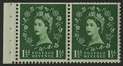 Great Britain   1955-57   Scott # 319f    Mint Never Hinged Booklet Pane