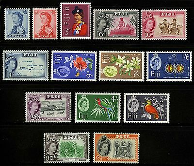 Fiji   1962-67    Scott # 176-189   Mint Lightly Hinged Set