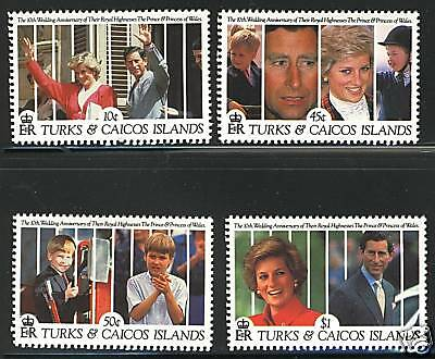 Turks & Caicos  1991  Scott # 913-920  MNH Part Set