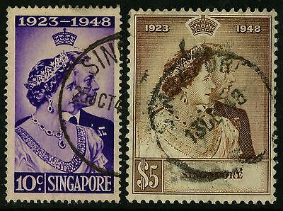 Singapore   1948   Scott #21-22    Used Set
