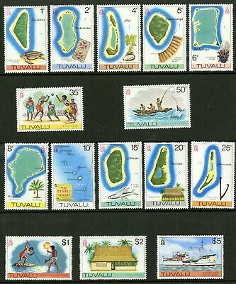 Tuvalu  1976  Scott # 23-37  MNH  Set