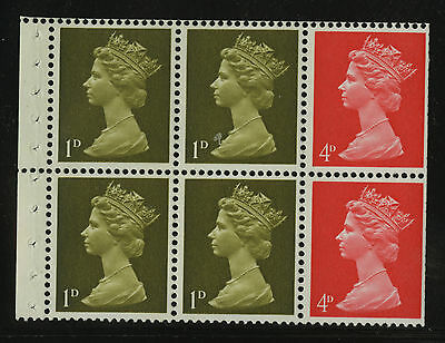 Great Britain   1968-70   Scott #MH  7e    Mint Never Hinged Booklet Pane