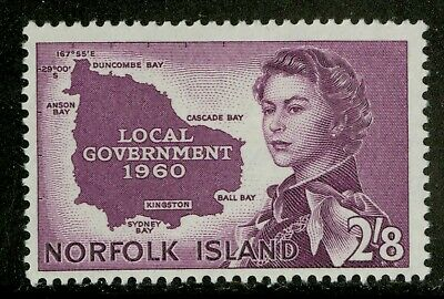 Norfolk Island   1960   Scott # 42 Mint Lightly Hinged