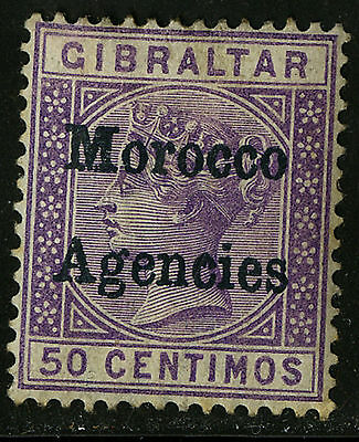 Morocco Agencies 1898   Scott #6    Mint Lightly Hinged - Toned Perfs
