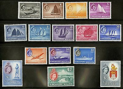 Singapore   1955  Scott # 28-42  Mint Lightly Hinged Set