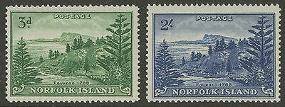 Norfolk Island  1959  Scott # 23-24 MLH Set