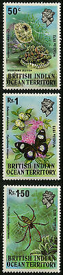 British Indian Ocean Tty  1973   Scott # 54-56  MNH Set
