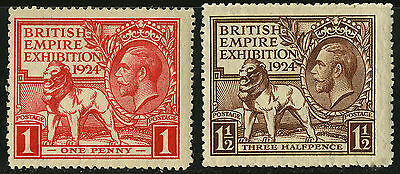 Great Britain   1924   Scott # 185-186  MH Set
