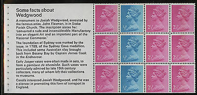 Great Britain   1972   Scott #MH 34a    Mint Never Hinged Booklet Pane