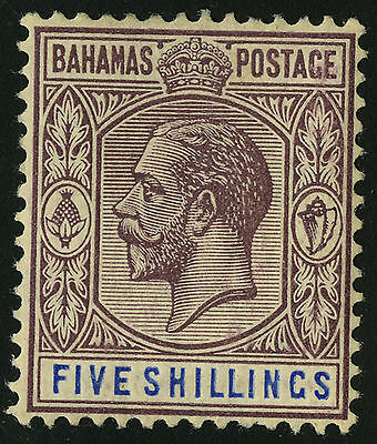 Bahamas   1912-19   Scott # 55   Mint Lightly Hinged