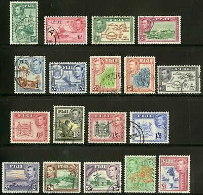 Fiji   1938-55   Scott # 117-131b   USED Set