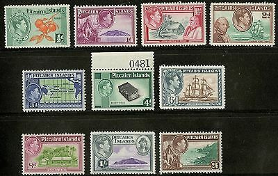 Pitcairn Islands  1940-51  Scott # 1-8 MNH Set