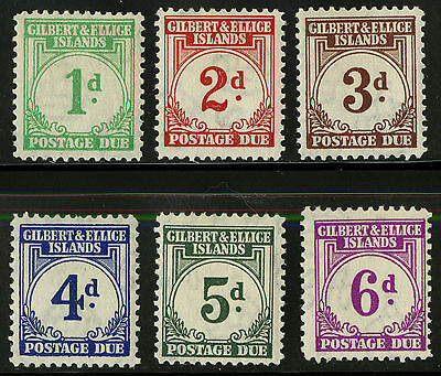 Gilbert & Ellice Islands   1940   Scott # J1-J6   Mint Lightly Hinged Part Set