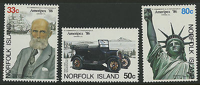 Norfolk Islands   1986   Scott # 382-384    Mint Never Hinged Set