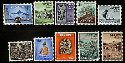 Ceylon  1954   Scott # 319-328  MLH Set