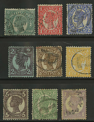 Queensland   1897-1900   Scott # 112-121   USED Part Set