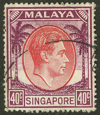 Singapore   1949-1952   Scott #16a  USED