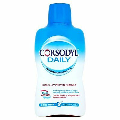 Corsodyl, 500ml Daily Cool Mint Alcohol Free Mouthwash NEW