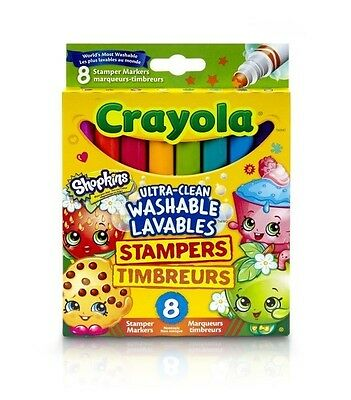 Shopkins Ultra-Clean Washable Stampers Markers from Crayola 58-8152