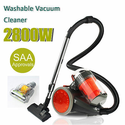 2800W Bagless Cyclone Cyclonic Vacuum Cleaner Filtration System w/ Turbo Brush