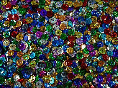 Sequins Cup 6mm Laser Mix 20g Lazer Dancing Costumes Beading FREE POSTAGE
