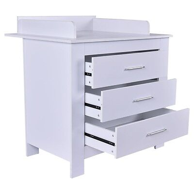 Infant Baby Changing Table Nursery Diaper Station Dresser Storage 3 Drawers